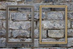 Old golden frame. Stock Photos