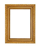 Old golden frame with clipping path Royalty Free Stock Photos
