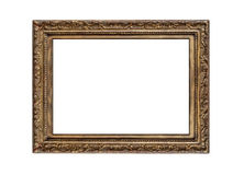 Old golden frame. Very old golden frame isolated on white background Royalty Free Stock Images