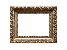 Old golden frame. Very old golden frame isolated on white background Royalty Free Stock Photography