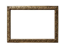 Old golden frame. Very old golden frame isolated on white background Stock Images