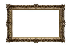 Old golden frame. Very old golden frame isolated on white background Royalty Free Stock Image