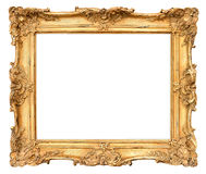 Old golden frame. vintage background. Old golden frame. beautiful vintage background Stock Photography