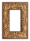 Old golden frame. vintage background Stock Images