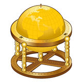 Old golden globe sphere Royalty Free Stock Images