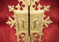 Old golden lock Stock Image