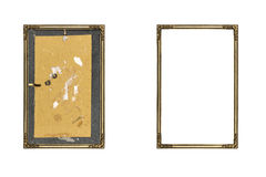 Old golden picture frame Royalty Free Stock Photo