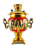 Old golden samovar Royalty Free Stock Images