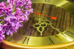 Old golden vintage clock Royalty Free Stock Image