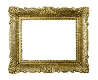 Old golden vintage picture frame Royalty Free Stock Images