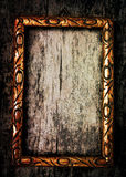 Old golden wooden frame Stock Images