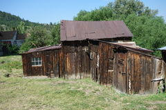 An old goldrush house in idaho Royalty Free Stock Photo