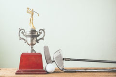 Old golf trophy Stock Photography