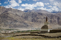 Old gompa road side on the way to Hemis Monastery Royalty Free Stock Image