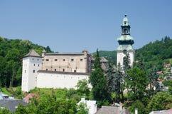 Old gosthic castle of Banska Stiavnica Stock Images