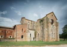 Old Gothic abbey - Abbey of San Galgano, Tuscany, Italy Stock Photo