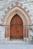 Old Gothic Arched Door Royalty Free Stock Image