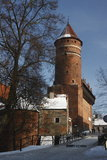 Castle in Olsztyn. Old gothic castle in Olsztyn royalty free stock photos
