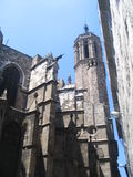 Old gothic cathedral in Barcelona. Old gothic cathedral of Barcelona, Spain Royalty Free Stock Photos