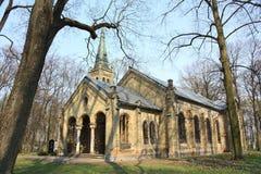Old gothic church. On abandoned Pokrov cemetery in Riga, Latvia Stock Photos