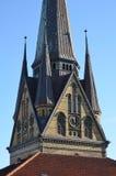 Old Gothic church of St. Nikolai in Flensburg / Germany Stock Image