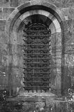 Old gothic church window stock photos