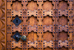 Old gothic door Royalty Free Stock Image