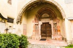 Old gothic door in Salzburg, Austria. Old gothic door in church of Salzburg, Austria Royalty Free Stock Photo