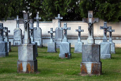 Old gothic grave Stock Images