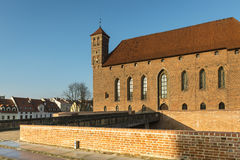 Old gothic Krasicki Bishop castle in Lidzbark Warminski Royalty Free Stock Photography