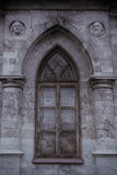 Old Gothic lancet window. Walled with stones Royalty Free Stock Photos