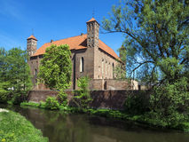 Old gothic medieval castle in Lidzbark Warminski Stock Photo