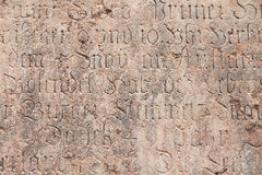 Old gothic text Stock Photography