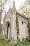 Old gothic tomb Stock Images