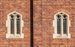 Old gothic windows Stock Photo