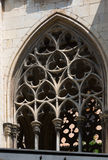 Old  gothic windows of  episcopal Palace Royalty Free Stock Photos