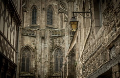 Old gotic Cathedral medieval vintage detail Stock Photos