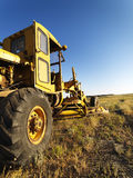 Old Grader in Field Stock Images