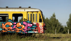 Old graffiti train Stock Image