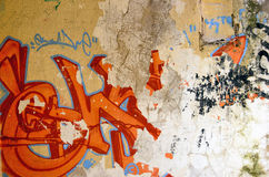 Old grafitti background Stock Photo