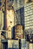 Old grain elevator abstract Stock Photo
