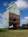 Old Grain Elevator At Central Alberta Railway Museum Royalty Free Stock Photo