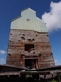 Old Grain Elevator At Central Alberta Railway Museum Stock Photo
