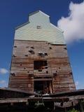Old Grain Elevator At Central Alberta Railway Museum Stock Photo