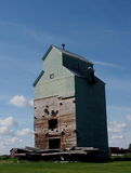 Old Grain Elevator At Central Alberta Railway Museum Stock Photography