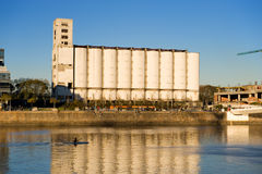 Old grain elevator and silos Buenos Stock Photos