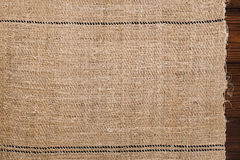 Old grain sacking linen Completely hand made  handwoven and home. Spun backdrop Stock Photo