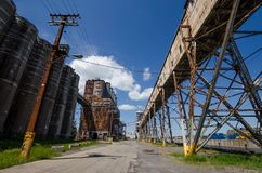Old grain silo Stock Photography