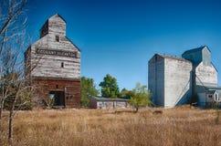 Old Grain Silo. Working grain silo in North Dakota stock images