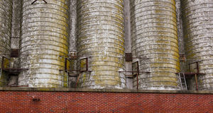 Old Grain Silos Royalty Free Stock Photos